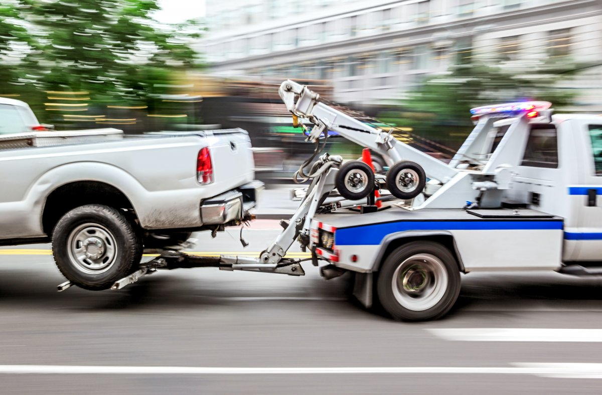 towing a vehicle